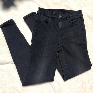 American Eagle BLACK HIGH WAISTED SKINNY JEANS